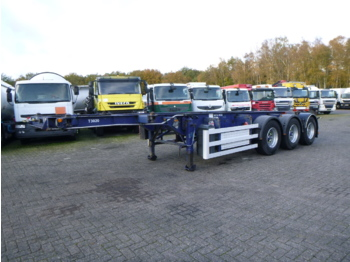 Containerbil/ veksellad sættevogn SDC 3-axle container trailer 20-30 ft + pump