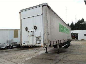 FRUEHAUF full steel frame tri axle 34 ton with lifting roof - telt sættevogn