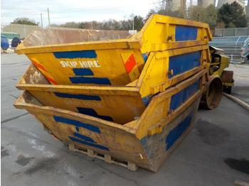 6 Yard Skip to suit Skip Loader Lorry (2 of) - liftdumpercontainer